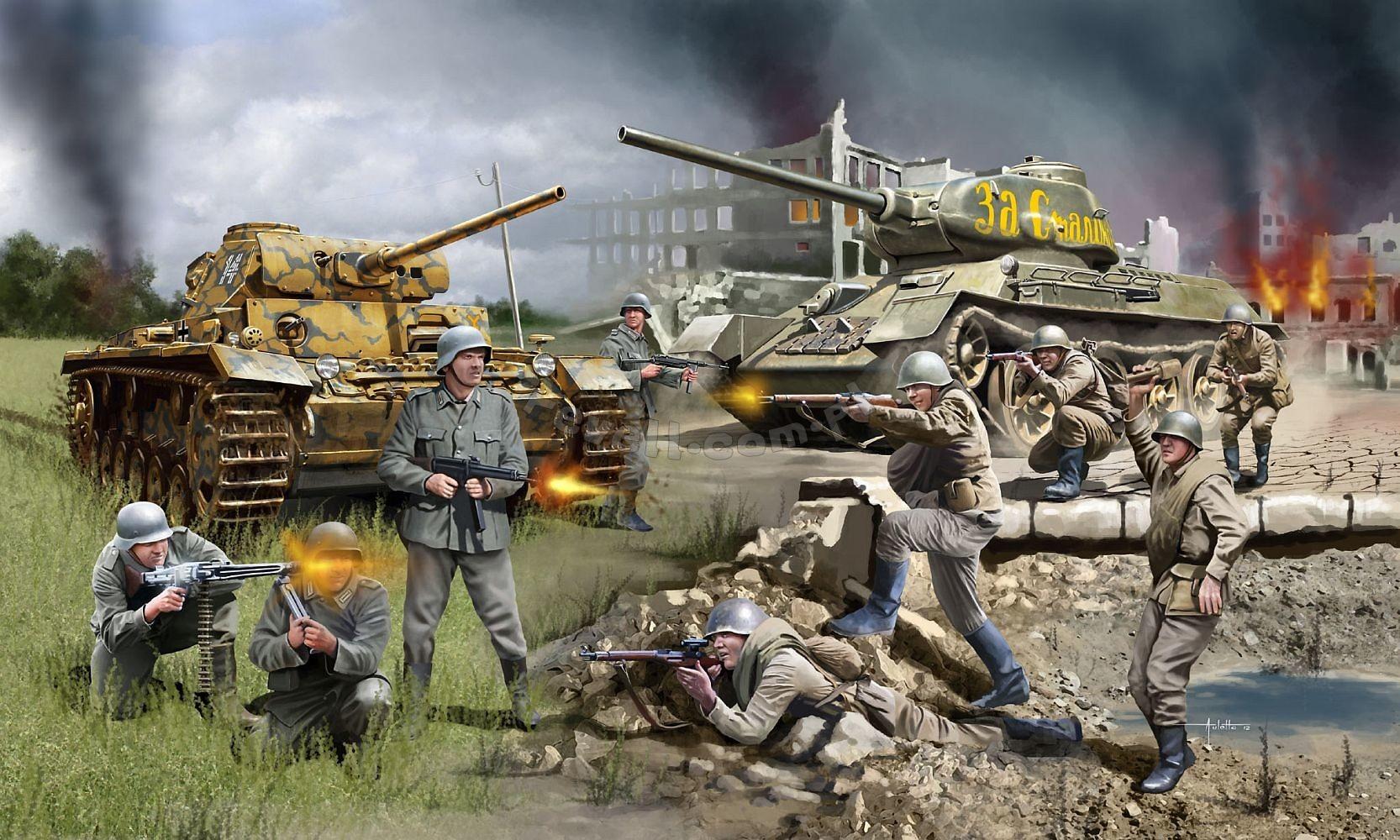 produkt archiwalny stalingrad battle pzkpfw iii amp t34