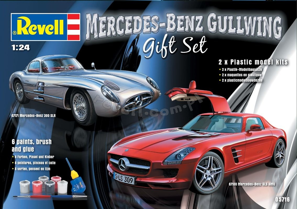 Produkt archiwalny mercedes benz gullwing gift set for Mercedes benz gifts
