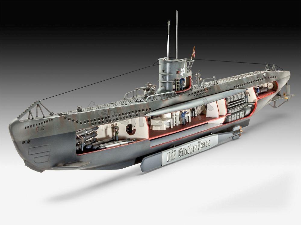 German u boat u 47 z widocznym wn trzem modele do for Interieur u boat